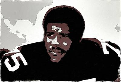 Painting - Joe Greene Poster Art by Florian Rodarte