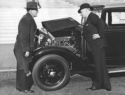 Joe Judge, Auto Salesman Print by Underwood Archives