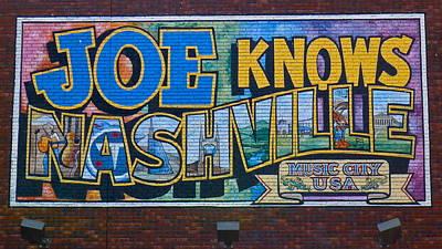 Photograph - Joe Knows Nashville by Denise Mazzocco