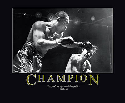 Punch Photograph - Joe Louis Champion  by Retro Images Archive