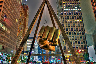 Detroit Wall Art - Photograph - Joe Louis Fist Detroit Mi by A And N Art
