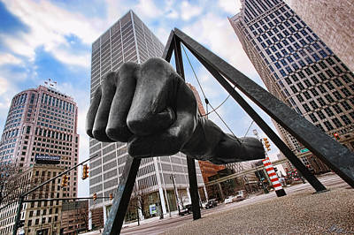 Photograph - Joe Louis Fist - In Your Face - Version 2 by Gordon Dean II