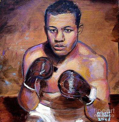 Painting - Joe Louis by Robert Phelps