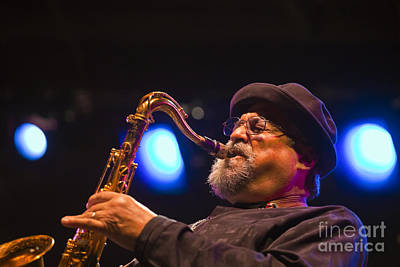 Joe Lovano Blows Sax Art Print