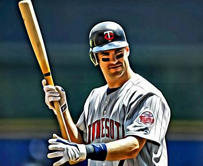 Mauer Painting - Joe Mauer Painting by Florian Rodarte