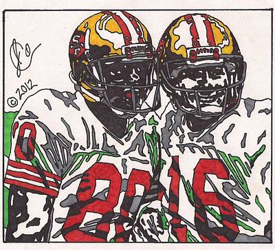 Joe Montana And Jerry Rice Art Print
