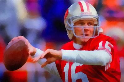 Painting - Joe Montana by Dan Sproul