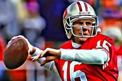 Painting - Joe Montana by Florian Rodarte
