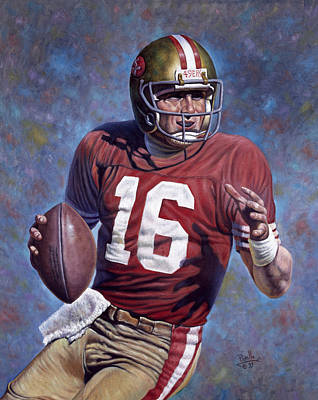 Cotton Mixed Media - Joe Montana by Gregory Perillo