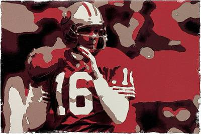Painting - Joe Montana Poster Art by Florian Rodarte