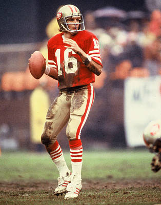 Football Game Photograph - Joe Montana by Retro Images Archive