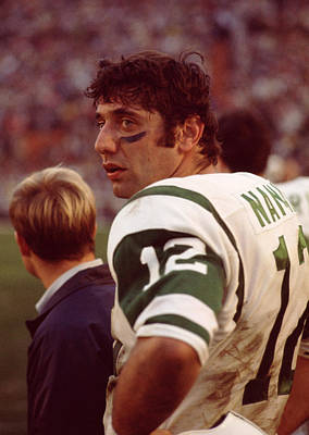 Newman Photograph - Joe Namath  by Retro Images Archive