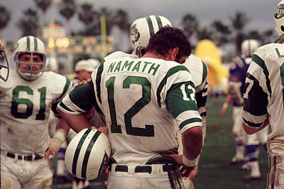 Joe Namath On Sideline Art Print