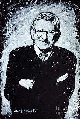 Painting - Joe Paterno by Chris Mackie