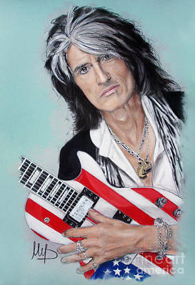 Joe Perry Art Print by Melanie D