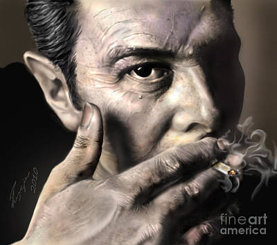 Joe Strummer-burning Lights Art Print