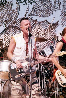 The Clash Photograph - Joe Strummer by David Plastik