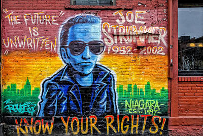 Joe Strummer Photograph - Joe Strummer Mural Lower East Side Nyc by Robert Ullmann
