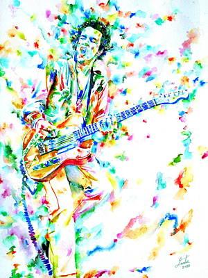 Joe Strummer Playing Live Art Print by Fabrizio Cassetta