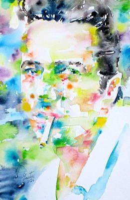 Joe Strummer Painting - Joe Strummer - Watercolor Portrait by Fabrizio Cassetta