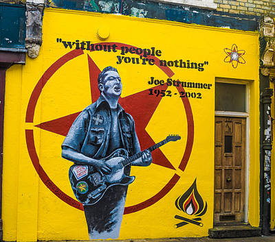 The Clash Photograph - Joe Strummer Without People You're Nothing by Georgina Noronha