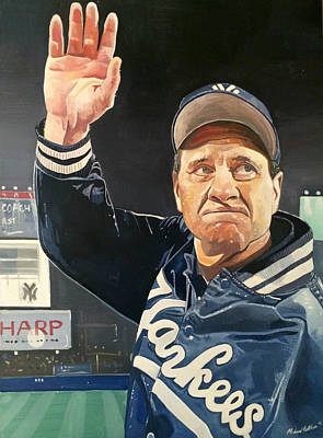Joe Torre New York Yankees Print by Michael  Pattison