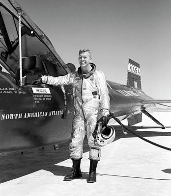 Joe Walker As X-15 Test Pilot Print by Nasa
