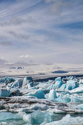 Joekulsarlon Glacial Lagoon Art Print by For Ninety One Days