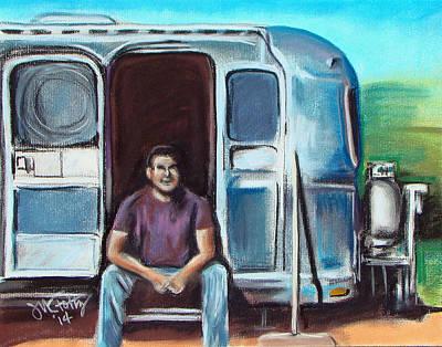 Pastel - Joe's Airstream by Michael Foltz