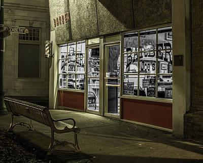 Photograph - Joe's Barber Shop by Bill Gallagher