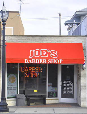 Photograph - Joe's Barber Shop by Daniel Ness