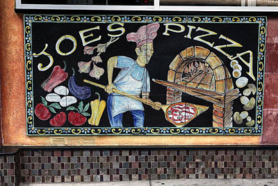 Joes Pizza Art Print