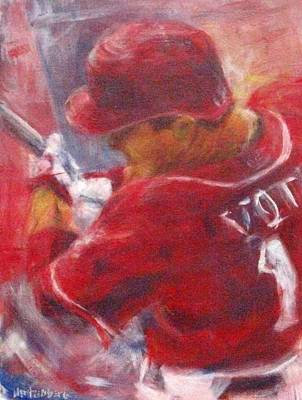 Baseball Painting - Joey by Josh Hertzenberg