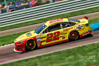 Photograph - Joey Logano 2014 by Blake Richards