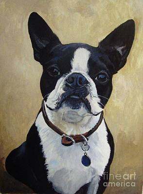 Painting - Joey The Boston Terrier by Suzanne Schaefer
