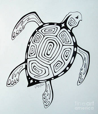 Joey's Sea Turtle Art Print by Joey Nash
