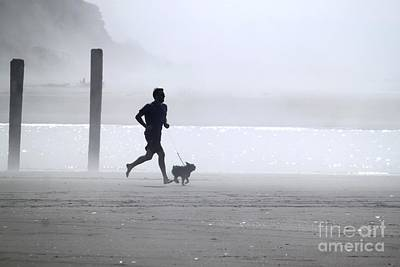 Photograph - Jog The Fog...my Dog And I by Terri Thompson