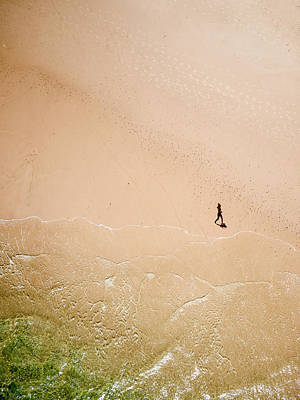 Photograph - Jogger On Tallow Beach  by Rob Huntley