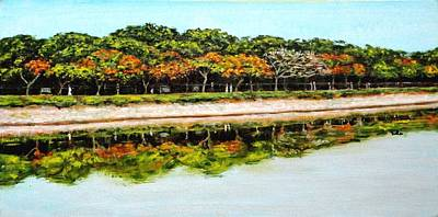 Lal Bagh Painting - Joggers Path by Usha Shantharam