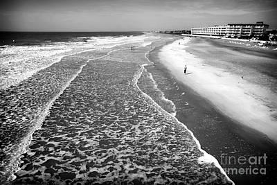 Jogging At Folly Beach Art Print by John Rizzuto