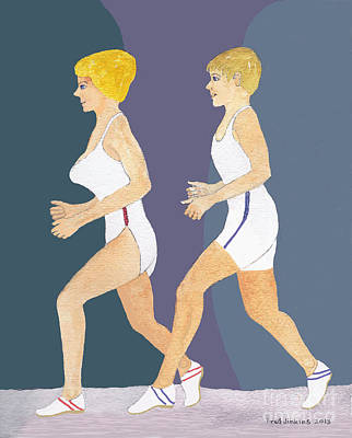Jogging Mixed Media - Jogging by Fred Jinkins