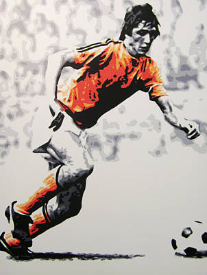 Painting - Johan Cruyff - Holland by Geo Thomson