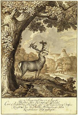 Johann Elias Ridinger, German 1698-1767 Art Print