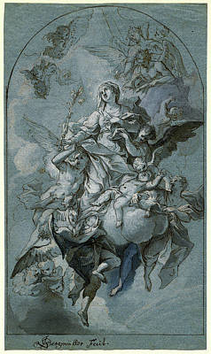 Immaculate Drawing - Johann Georg Bergmüller, German 1688-1762 by Litz Collection