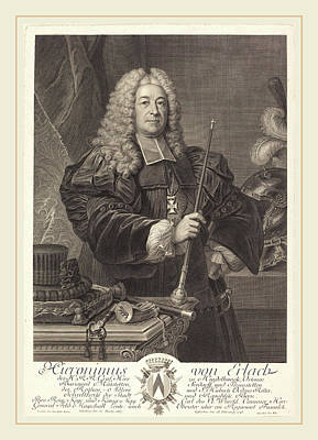 Cavaliers Drawing - Johann Georg Wille After Carlo Francesco Rusca by Litz Collection