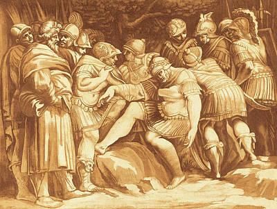 Johann Gottlieb Prestel After Polidoro Da Caravaggio Art Print by Quint Lox