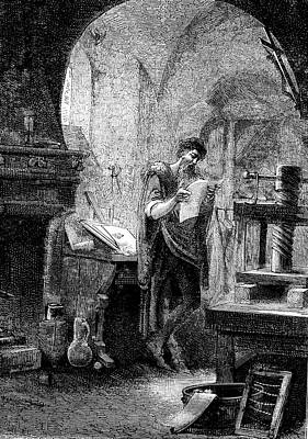 Bible Photograph - Johann Gutenberg by Collection Abecasis