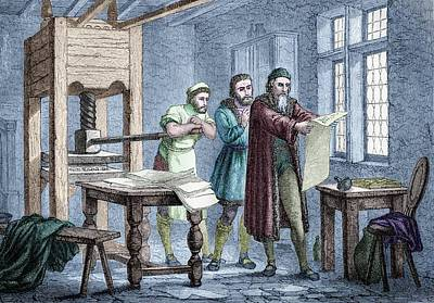 Bible Photograph - Johann Gutenberg by Michael Marten