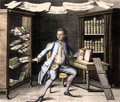 Self-taught Photograph - Johann Heinrich Lambert, Swiss Polymath by Science Source