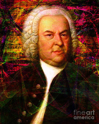 Photograph - Johann Sebastian Bach 20140126v2 by Wingsdomain Art and Photography